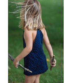 Falda-peto azul estrellas Tul y Pompón