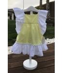 Vestido volante plumeti amarillo Baby Yiro