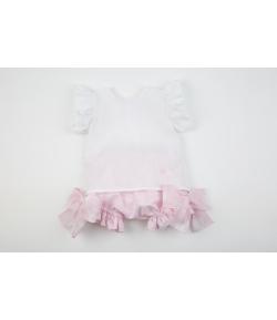 Conjunto blusa lino y culetin corazon Rochy