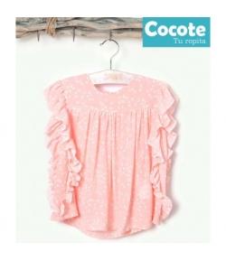 Blusa bambula rosa Cocote