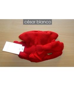 Cuello punto rojo Cesar Blanco