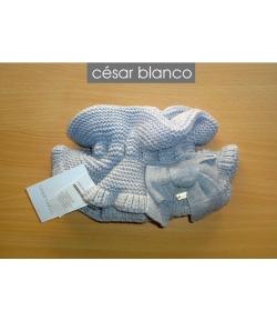 Cuello punto gris claro Cesar Blanco