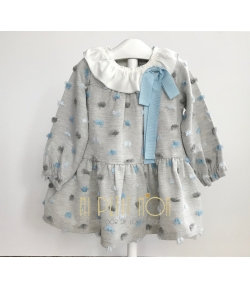 Vestido maxi plumeti azul Rochy