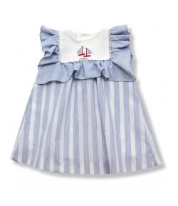 Vestido rayas marinero Foque