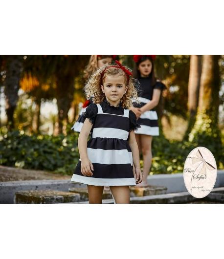 Pichi y blusa Black Para Sofía