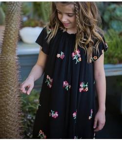 Vestido negro flores Mia y Lia