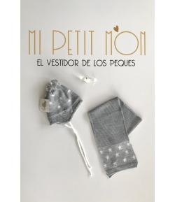 Conjunto gorro y bufanda gris Gorros Navarro