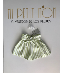Falda pantalón rayas verde pistacho José Varón