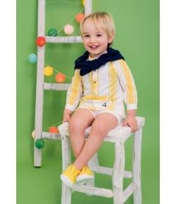 Camisa rayas amarillas Foque