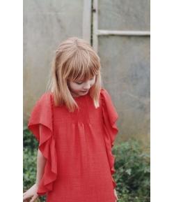 Vestido rojo volante Mia y Lía