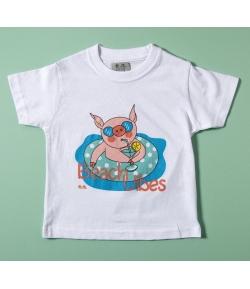 Camiseta niño cerdito lunares José Varón