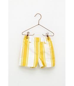 Pantalón corto rayas amarillas Foque