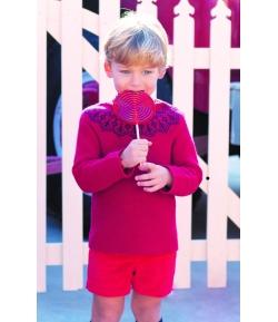 Jersey greca rojo Scotish Eve Children