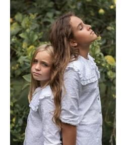 Blusa cuello blanca Mia y Lia