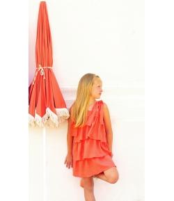 Vestido volantes coral Turttle Eve Children