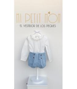 Conjunto bombacho blusa Victoria Kauli