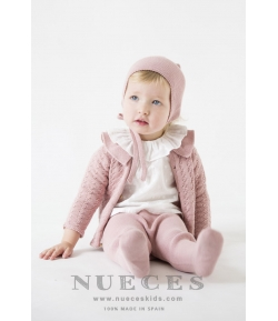 Jersey/Chaqueta cuello volante rosa Nueces