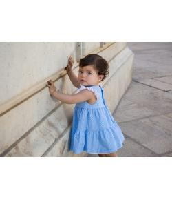 Vestido bouquet azul Rochy